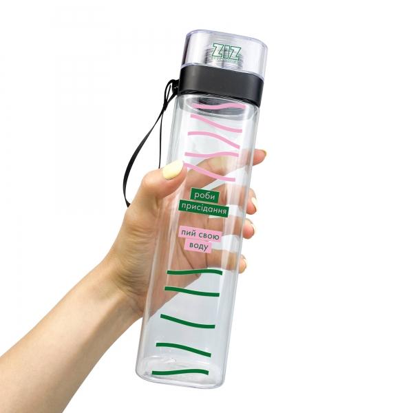 Бутылка для воды ZIZ Пей и приседай