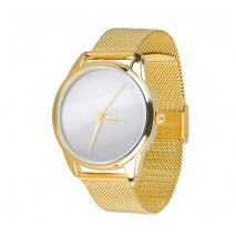 Часы ZIZ Минимализм на металлическом браслете  (золото)