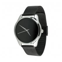 Часы ZIZ Минимализм черный на металлическом браслете (черный)
