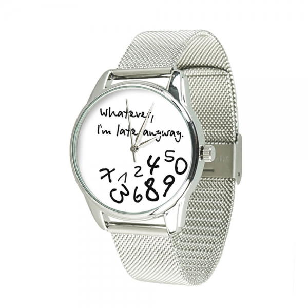 Часы ZIZ Late white на металлическом браслете