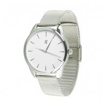 Часы ZIZ Черным по белому на металлическом браслете