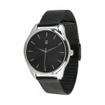 Часы ZIZ Белым по черному на металлическом браслете