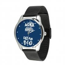 Часы ZIZ Мечтай работай на металлическом браслете