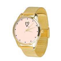 Часы ZIZ Сердечко на металлическом браслете