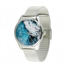 Часы ZIZ Океническая волна на металлическом браслете