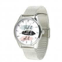 Часы ZIZ Думай желай получай на металлическом браслете
