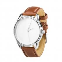 Часы ZIZ Минимализм (кофейный, серебро)