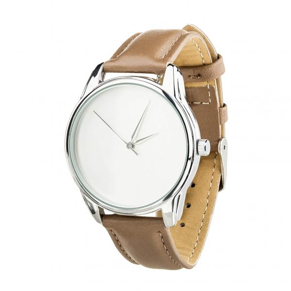 Часы ZIZ Минимализм (серо-коричневый, серебро)