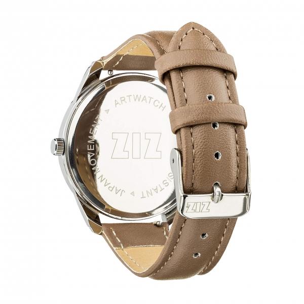 Наручные Часы ZIZ Минимализм (серо-коричневый, серебро)