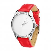 Часы ZIZ Минимализм (красный, серебро)