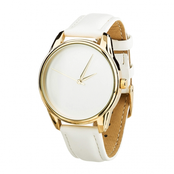 Наручные Часы ZIZ Минимализм (белый, золото)