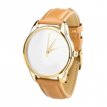 Часы ZIZ Минимализм (карамельный, золото)
