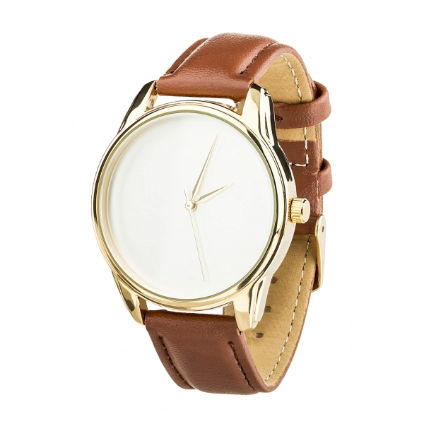 Часы ZIZ Минимализм (кофейный, золото)