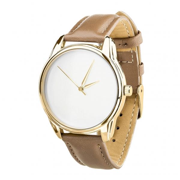 Часы ZIZ Минимализм (серо-коричневый, золото)