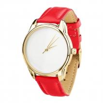 Часы ZIZ Минимализм (красный, золото)