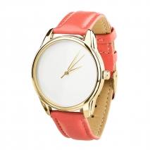 Часы ZIZ Минимализм (коралловый, золото)