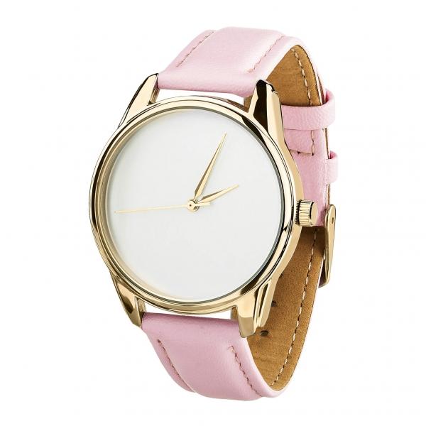 Часы ZIZ Минимализм (розовый, золото)