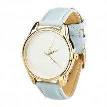 Часы ZIZ Минимализм (голубой, золото)