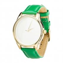 Часы ZIZ Минимализм (зеленый, золото)