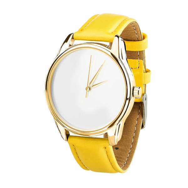 Часы ZIZ Минимализм (желтый, золото)