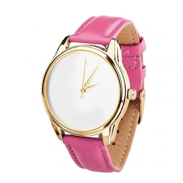 Часы ZIZ Минимализм (малиновый, золото)