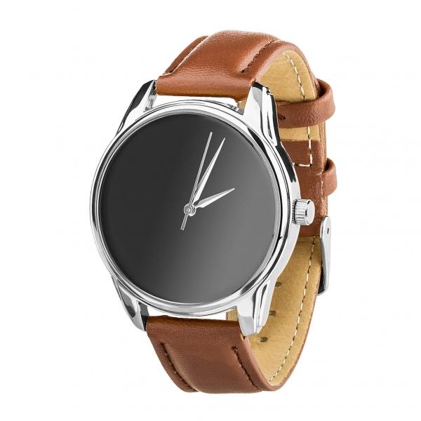 Часы ZIZ Минимализм черный (кофейный, серебро)