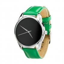 Часы ZIZ Минимализм черный (зеленый, серебро)