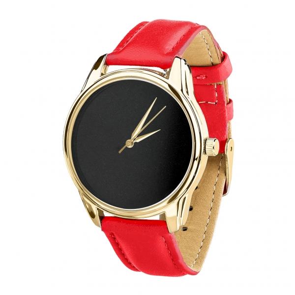 Часы ZIZ Минимализм черный (красный, золото)