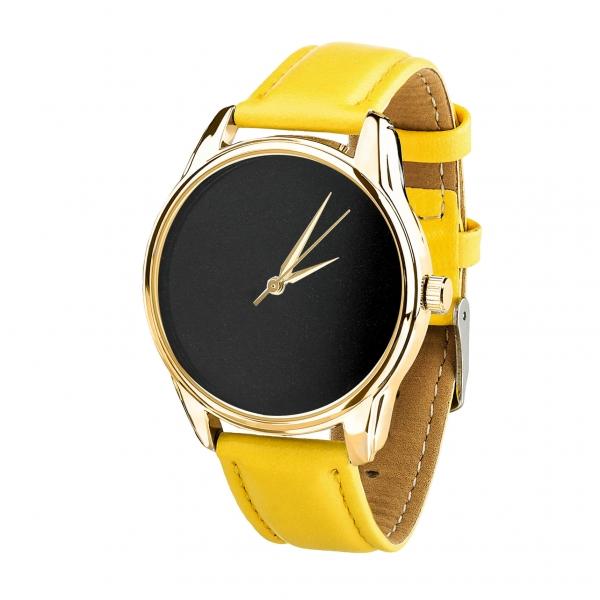 Часы ZIZ Минимализм черный (желтый, золото)