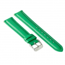 Ремешок для часов ZIZ (изумрудно - зеленый, серебро)
