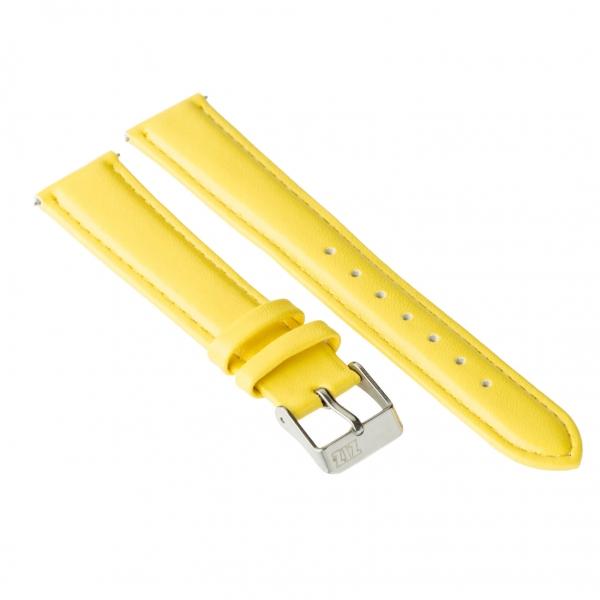 Ремешок для часов ZIZ (лимонно - желтый, серебро)