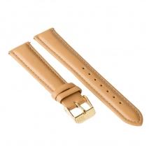 Ремешок для часов ZIZ (карамельно - коричневый, золото)
