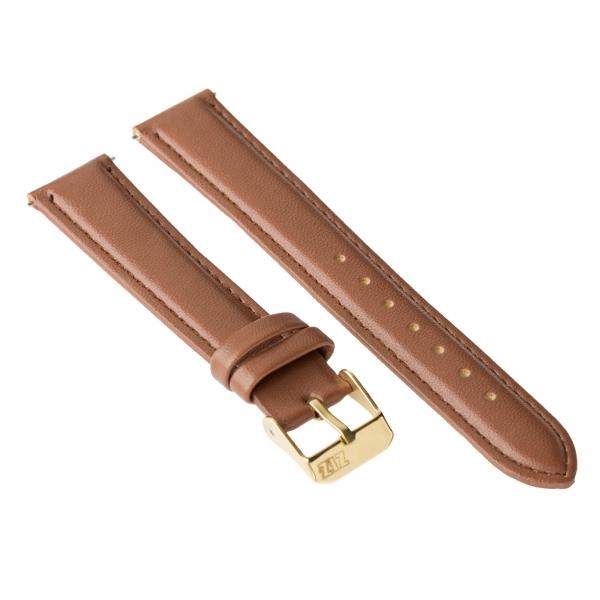 Ремешок для часов ZIZ (кофейно - шоколадный, золото)