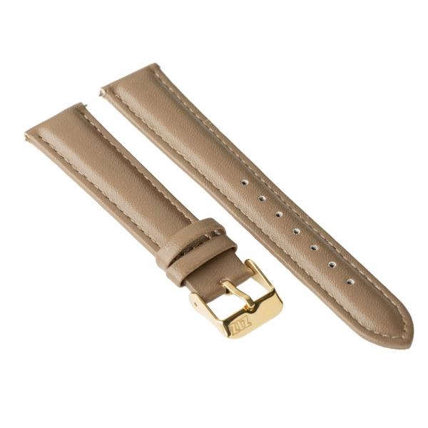 Ремешок для часов ZIZ (серо - коричневый, золото)
