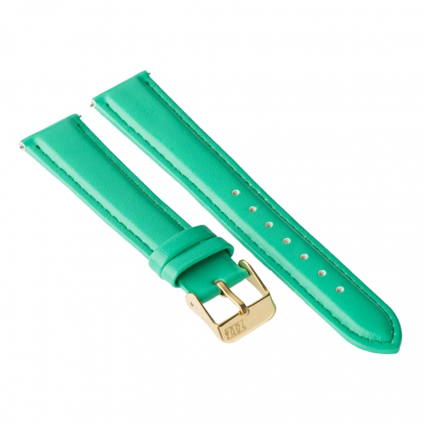 Ремешок для часов ZIZ (мятно - бирюзовый, золото)