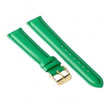 Ремешок для часов ZIZ (изумрудно - зеленый, золото)