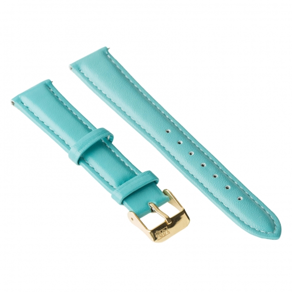 Ремешок для часов ZIZ (небесно - голубой, золото)