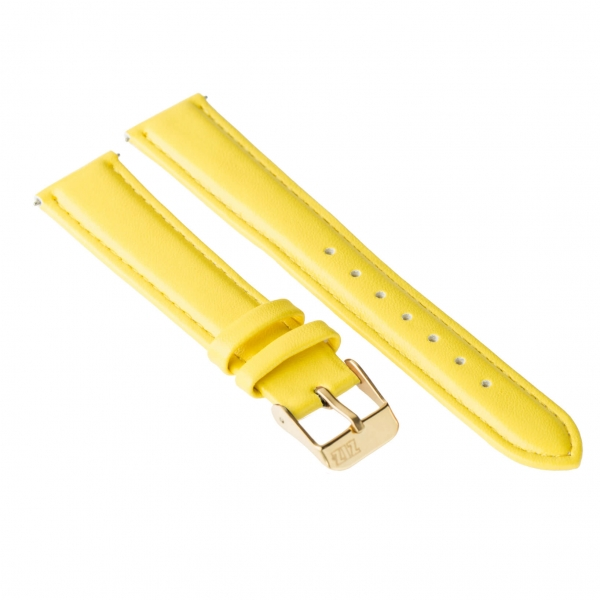 Ремешок для часов ZIZ (лимонно - желтый, золото)