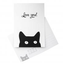 Открытка ZIZ Черный кот