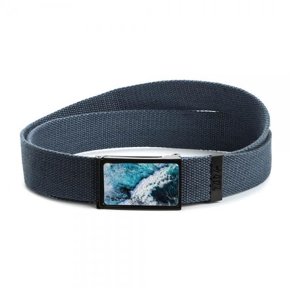 Ремень ZIZ Океаническая волна синий
