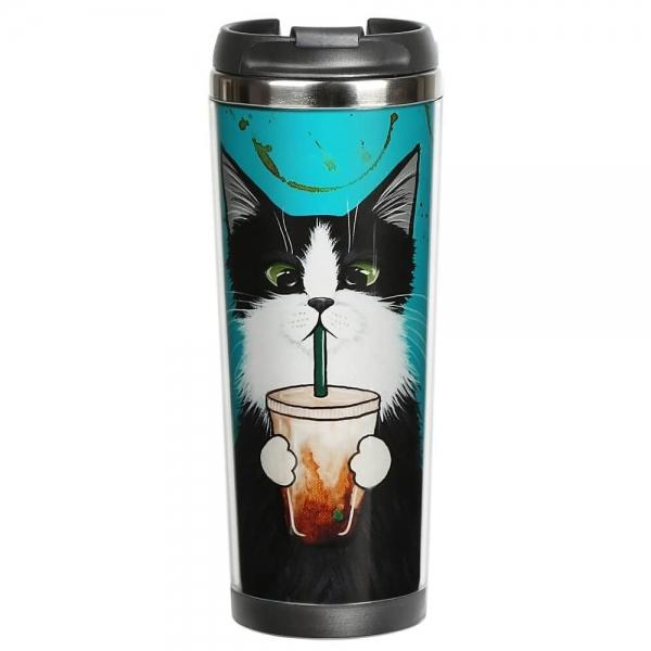Термокружка ZIZ Кот со стаканом